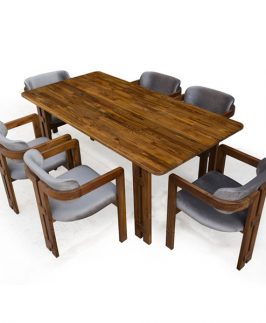 Triangalo Dining Table with 6 Chair