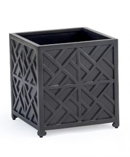 Big Repton Square Planter 70 cm square - Black