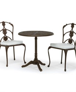 Jekyll Pedestal Table with 2 Diner Chairs - Black