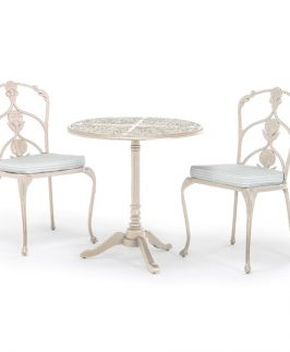 Jekyll Pedestal Table with 2 Diner Chairs - White