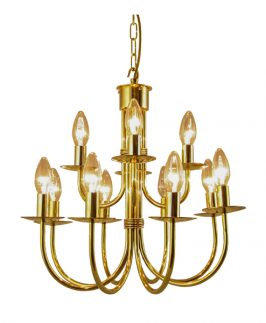 Birtley Brass Chandelier