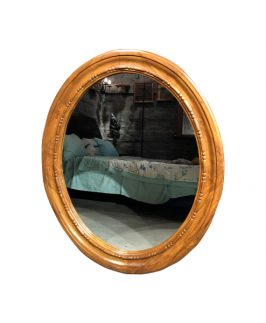 Wooden oval mirror frame